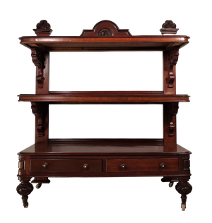 Large Mahogany Three-Tiered Buffet