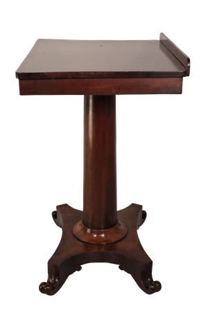 Mahogany Lift Top Work Table & Lecturn on Pedestal Column Base