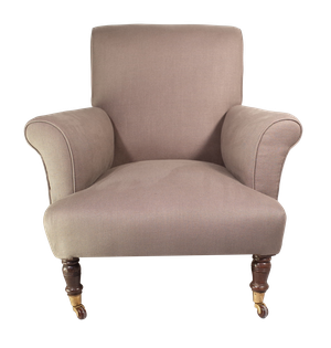 Victorian Scrollback Armchair on Turned Legs