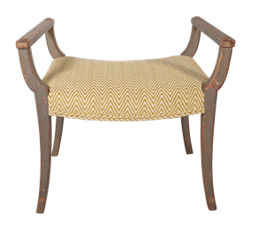 Rowley Upholstered Dressing Stool in Original Paint