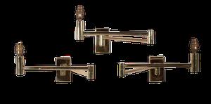 Brass Swivel Arm Extending Wall Lights