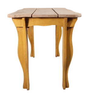 Bleached Ash Topped Tavern Table with Painted Oak Base