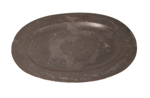 Four Large George III Oval Pewter Serving Platters
