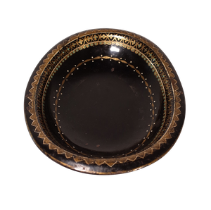 George III Hand Decorated Oval Tole Dish
