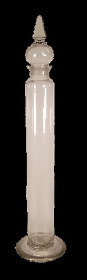 Tall Victorian Lidded Glass Apothecary Jar