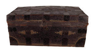 George III Leather Studded Dowry Trunk Initialled R B