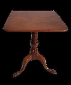 Square Top Mahogany Tilt Top Balluster Pedestal Tripod Table