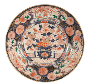 Meiji Period Imari Charger Decorated with Imperial Scenes of Birds and Chrysanthemums