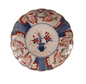 Meiji Period Imari Plate with Floral Decoration