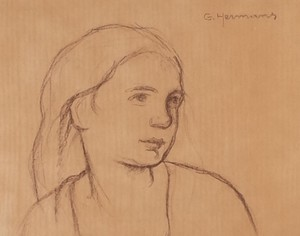 Pencil Portrait of a Young Woman