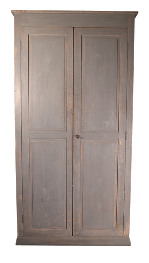 Napoleon III Poplar and Pine School Cupboard with Original Paint