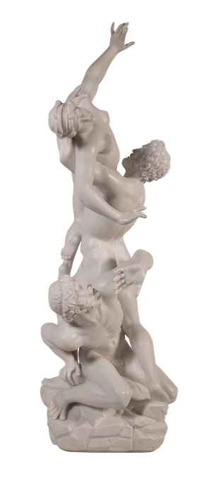 Parian Ware figure of the 'Abduction of a Sabine Woman'