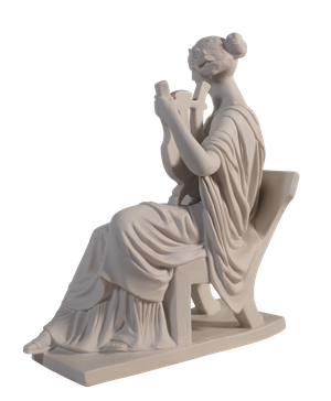 Parian Ware Figure of a Reclining Grecian Woman Playing a Lyre