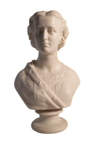 Parian Ware Bust of Alexandra, Princess of Wales