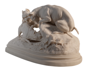 Copeland Parian Ware 'Group of Terriers'