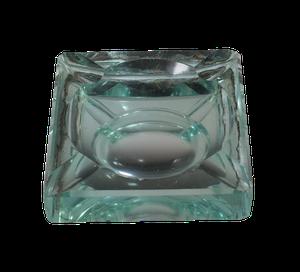 Deco Mirrored Glass Ashtray