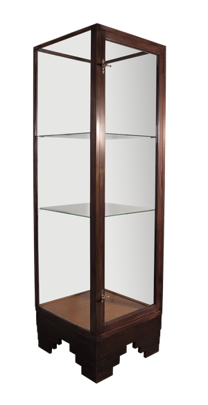 Deco Mahogany Shop Fitting Display Case by Dudley & Co London N7