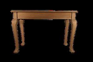 Lightened Oak Console Table on Square Cut Cabriole Legs