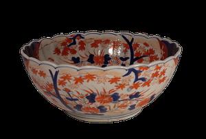 Meiji Period Imari Fluted Bowl