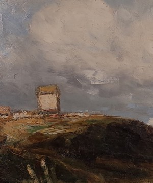 Oil on Canvas of a Windmill by Joseph Vickers DeVille