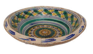 Hand Decorated Terracotta Letting Bowl