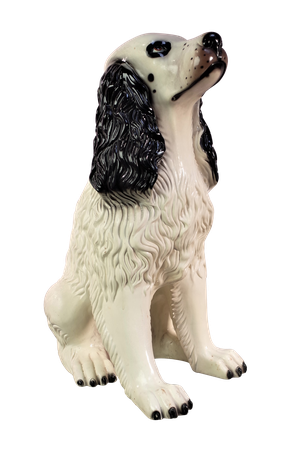 Ceramic Model of a White Spaniel