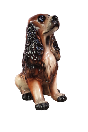 Ceramic Model of a Brown Spaniel