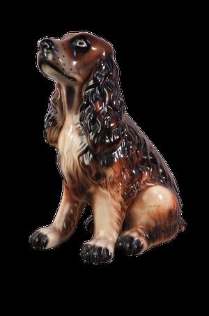 Ceramic Model of a Brown Spaniel