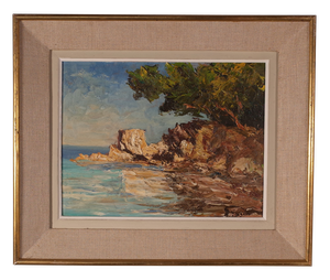 Oil on Board of a Mediteranean Cove