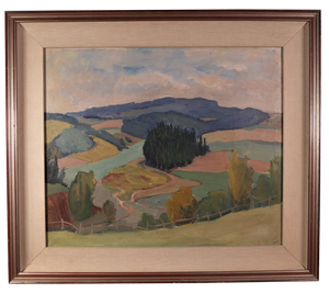 Oil on Canvas of Landscape by Enid Horne