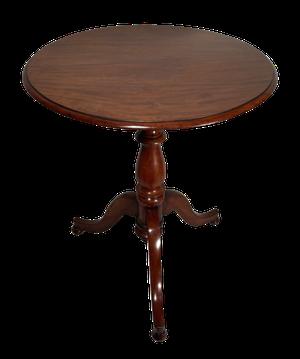 Mahogany Tilt Top Pedestal Table on Tripod Base
