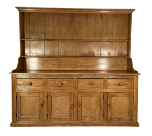 Stripped Pine Farmhouse Dresser with Fantastic Aged Natural Patina