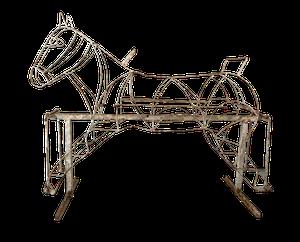 Original Painted Iron Rocking Horse