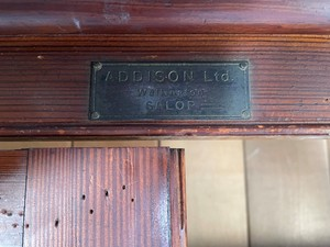 Edwardian Tall Pitch Pine School Cupboard by Addison Ltd