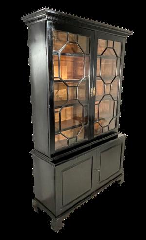 George III Astral Glazed Ebonised Bookcase