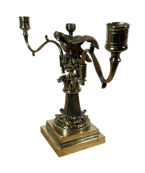 Brass Candelabrum with Perched Eagle