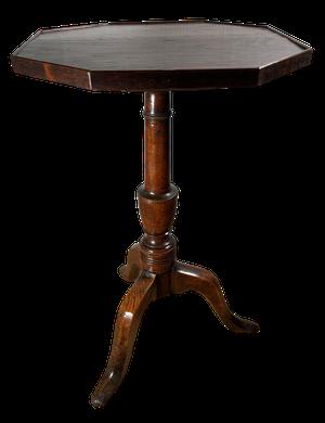 George III Elm Octagonal Pedestal Tripod Table