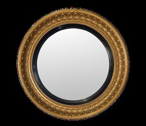 Gilt Round Convex Mirror