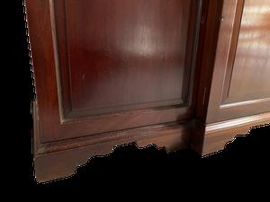 Mahogany Breakfront Astral Glazed Bookcase