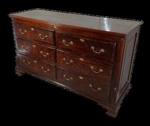 Oak Dresser Base with Six Drawers