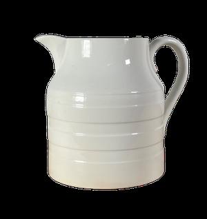 Banded White Pottery Jug