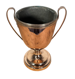 Two Handled Plated Copper Cup