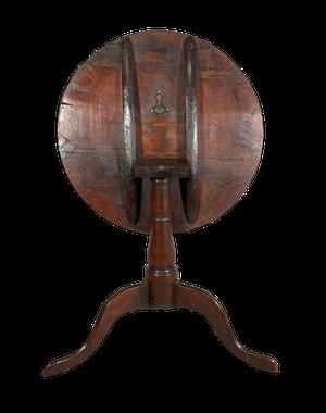 George III Cherry Tilt Top Pedestal Tripod Table