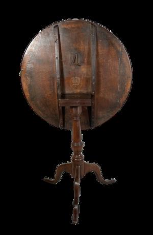George III Oak Tilt Top Pedestal Tripod Table