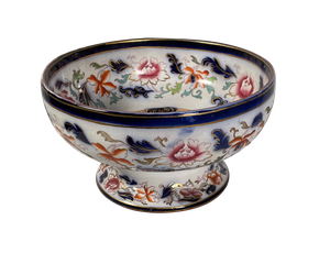 Imari Pattern Staffordshire Footed Punch Bowl