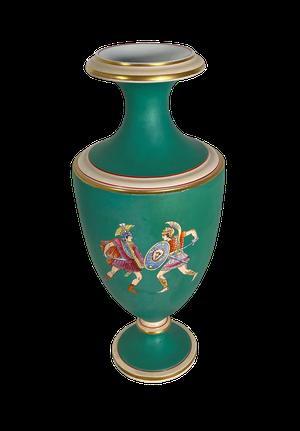 Classical Prattware Vase Decorated with Roman Gladiators