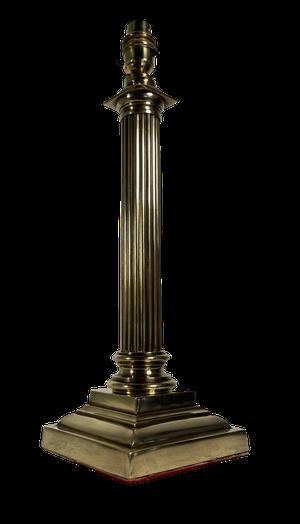 Brass Corinthian Column Table Lamp
