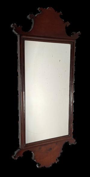 George III Mahogany Hall Mirror