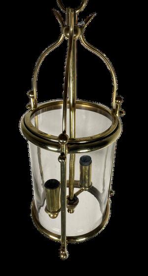 Round Brass and Glass Lantern