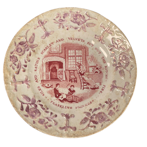 Staffordshire Franklin Proverb Nursery Plate